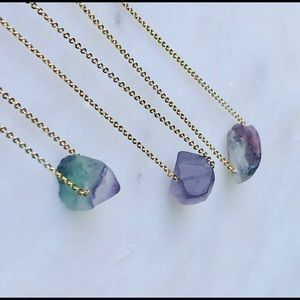 ✨Reiki Charged✨Natural Raw Fluorite Necklace